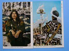 古い絵葉書 アイヌ まとめて 8枚 熊祭り 美人 彫刻 鮭漁 (J2)_画像4