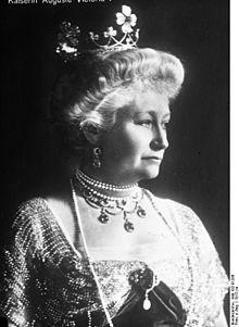 Augusta Victoria of Schleswig-Holstein (October 22 1858–April 11 1921) shown in 1913...the German Empress was the wife of Wilhelm II