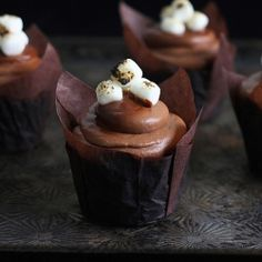 Rich, dark chocolate cake filled with gooey, toasted marshmallows and rich, tangy frosting. Simply divine! #foodgawker