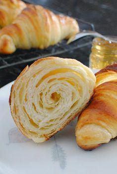 Sourdough Bread Starter, Sourdough Recipes, Bread Recipes, Baking Recipes, Sourdough Brioche Recipe, Sourdough Cinnamon Rolls, Sourdough Biscuits, Croissant Recipe, Croissants