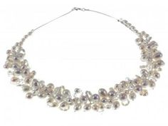 Designer Pearl and Swarovski Crystal Wedding Necklace