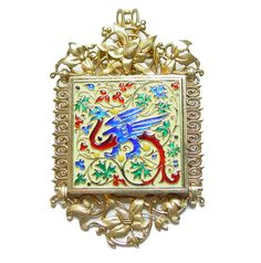 A gold and enamelled pendant by Lucien Falize http://www.wartski.com