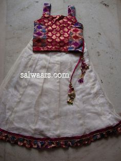 Kids Banarasi Netted Lehengas (Indian Traditional Dresses) - Indian Dresses
