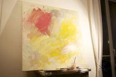 DIY Abstract Wall Art | Shelterness
