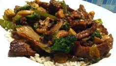 Vegansk biff chop suey
