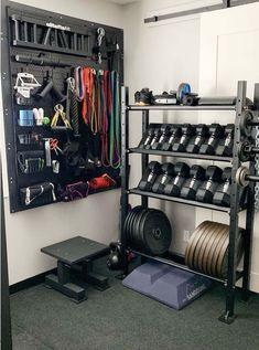 Home Gym Basement, Home Gym Garage, Diy Home Gym, Gym Room At Home, Home Gym Decor, Best Home Gym, Basement Remodeling, Basement Workout Room, Workout Room Home