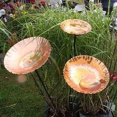 copper chalice garden bird bath sculpture by london garden trading | notonthehighstreet.com