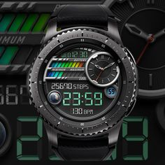 Watchface of Black Turtles – We are making the watch face of Samsung gear. Thank you for coming! Sport Watches, Cool Watches, Samsung Galaxy S, Watch Faces, Luxury Watches, Smart Watch, Turtles, Mens Fashion, Black
