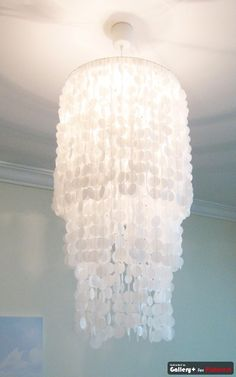 DIY- Chandelier made of wax paper