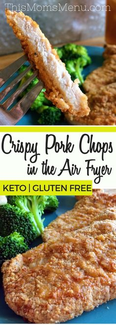 This recipe for Crispy Air Fryer Pork Chops is the perfect quick supper that the entire family will love. Have it on the table in less then 30 minutes from start to finish, plus clean up is a breeze! Follow the recipe as directed, or try changing it up with your favorite seasonings to make it your own. #airfryer #keto #glutenfree #kidfriendly