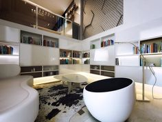 Niches and design elements enhance vertical space - Vertical Interior Design
