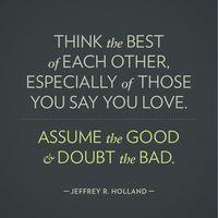 Assumptions can damage a friendship.