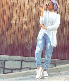 How to style botfriend jeans with hijab – Just Trendy Girls