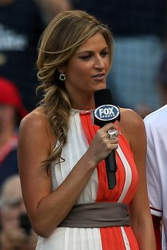 Erin Andrews. I said in class introductions that my dream job was to become Erin Andrews. I am not only completely envious of her career; she is also an awesome role model. Being a woman in a predominately male occupation can't be incredibly easy. I follow her on (multiple) social media, and admire her personal and professional life. She inspires me to go after my passions and stay true to myself along the way.