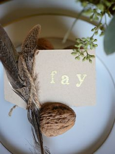 diy thanksgiving placecards