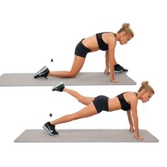 Lunge and Plank: Get a flat belly with these ab exercises from Tracy Anderson. These core exercises will tighten and tone your ab muscles for a flatter belly.