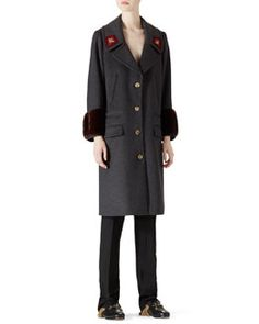 Gucci Wool & Mink Overcoat & Wool Menswear Pant Fall 2015