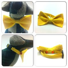 Summer HUGE SALE Bright Yellow Plain Dog Cat Pet Collar with Bow Tie