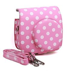 CAIUL Vintage Instax Mini 8 Camera Case Bag With Film Count Show, PU Leather, Pink With White Dots CAIUL http://www.amazon.com/dp/B00OIHDVI4/ref=cm_sw_r_pi_dp_j1cAub1192N66