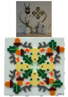 Deer wall decoration hama perler beads - HAMA