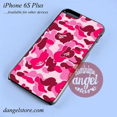 Bape Pink Camo Phone case for iPhone 6S Plus and another iPhone devices