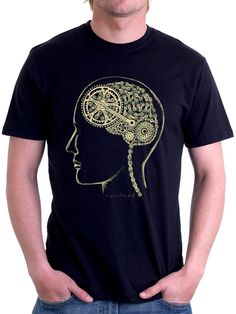 """Bike Brain"". The inner workings of a cyclist's mind by Cycology. #cycling tshirts."