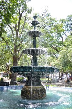 Classical Fountain (1890s) - Bienville Square, Mobile, Alabama