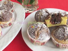 Briose de Casa cu Vanilie si Cacao Gem, Muffin, Breakfast, Food, Sweet Treats, Morning Coffee, Muffins, Meal, Essen