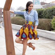 Natural Hair Twist Out Method African Attire, African Wear, African Fashion Dresses, African Women, African Dress, Ankara Fashion, Kitenge, Mode Wax, Ghanaian Fashion