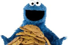 Cookie Monster is trilled to have a pile of Cookies in front of him. Blue Costumes, Fraggle Rock, The Muppet Show, Jim Henson, Cartoon Pics, Apple News, Chocolate Chip Cookies, Chocolate Chips, New Iphone