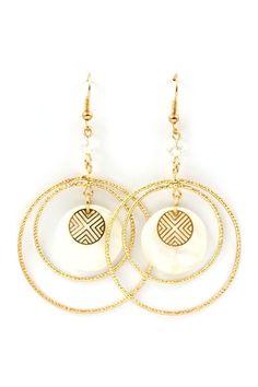 White Shell Liv Earrings