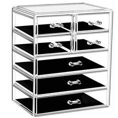 3 étages Plastique Tiroir Meuble de Rangement Organisateur de bureau poitrine Cabinet Tidy Titulaire