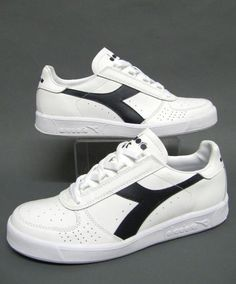 bc4f3f42dd47da Diadora Borg Elite Trainers in White Navy. The classic Borg shoe seen as  the holy grail of training shoes from the