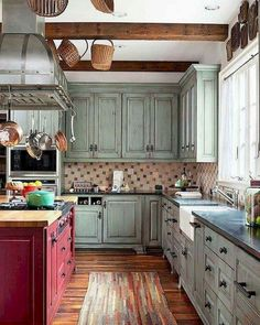 33 best red kitchen cabinets images red kitchen house rh pinterest com