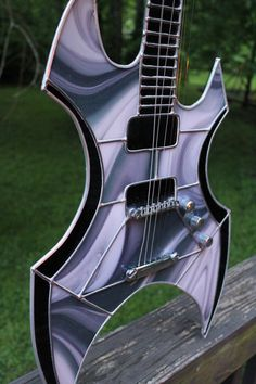 Stained Glass Ax Guitar 2 by Raventalker on DeviantArt