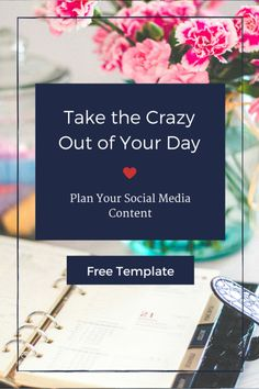 Take the crazy out of your schedule by planning out your social media. Use my free template to help you!