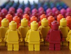 The best part of this party favor may be the photo of this army of mini figures.  But with some printouts, these lego crayons could be a good lego party bag treat.