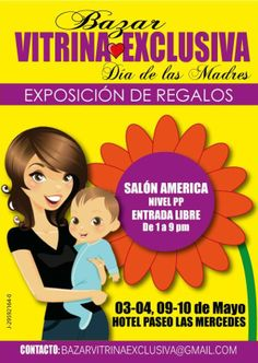 Bazar Vitrina Exclusiva 3 y 4 de #Mayo Hotel Paseo Las Mercedes #Caracas Inf.: http://ow.ly/utaGx Vía @VitrinaExclusiv