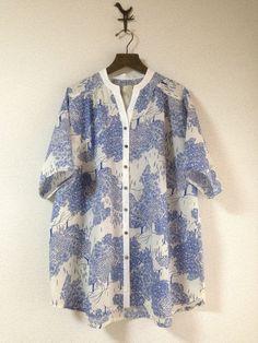 《参考商品》キモノスリーブのふんわりシャツブラウス画像1