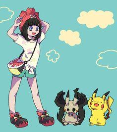 Mimikyu and Pikachu