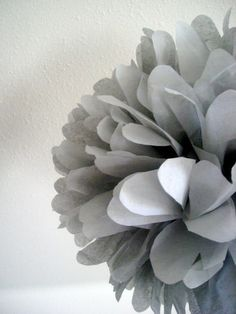 1 tissue paper pom // green wedding // bat by PomLove Marker, Touch Of Gray, Gray Aesthetic, Aesthetic Vintage, Photocollage, Deco Floral, Grey Flowers, 50 Shades Of Grey, Color Shades