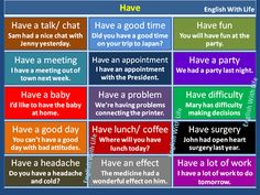 Collocations with ' HAVE ' #LearnEnglish #EnglishVocabulary @English4Matura