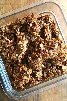Granola. I don't know anyone who doesn't welcome a bowl of homemade granola with milk or yogurt topped with fresh berries or sliced banana first thing in the morning. This also is my go-to gift for a host or hostess and my most-often requested recipe.