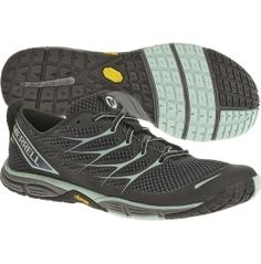 $100 Cut through the fresh mountain air with an invigorating run in the Merrell® Women's Barefoot Run Road Glove Dash 3 trail running shoe. Super-lightweight mesh and TPU upper materials promote air flow for lasting breathability. A sturdy EVA midsole provides ultimate cushioning, while the Vibram® outsole absorbs shock on impact and boosts traction on rugged terrain. Scratch the itch for adventure and jog on in the Road Glove Dash 3 shoe.
