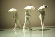 TANAKA Kazuhiko, 'Rain and Umbrellas..., It's common..., so common.'