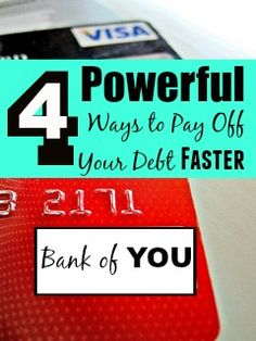 So many of us are working hard to pay off debt from credit cards, payday loans, student loans, or mortgages. Discover 4 ways to pay off your debt faster!