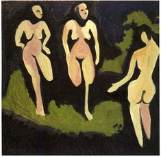Expressionism — Nudes in a Meadow, Ernst Ludwig KirchnerSize:...