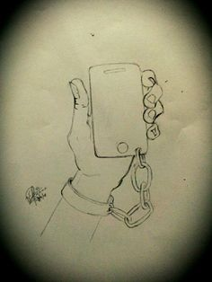 People nowadays... cant even think of a life without mobile  phones!!