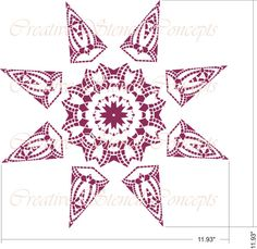 Decorative Star Mandala Design Stencil Ceiling by CreativeStencils Mandala Stencils, Stencil Patterns, Stencil Designs, Craft Tutorials, Craft Ideas, Glass Front Door, Ceiling Medallions, Mandala Design, Frosted Glass