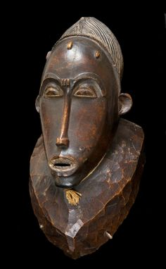 Africa | Mask from the Baule people of Ivory Coast | Wood | ca. 1923 - 1935 | April 2013 Catalogue